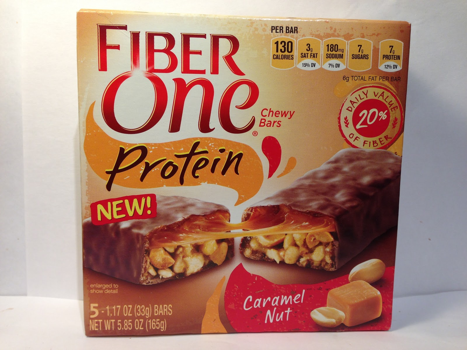 Review: Fiber One Protein Caramel Nut Chewy Bar « Crazy Food Dude