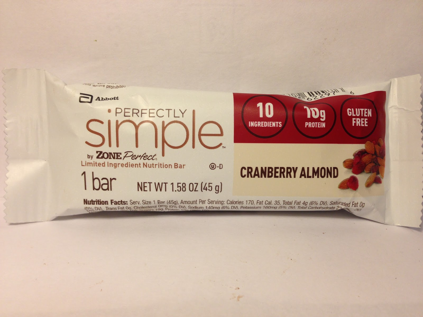 Review zone perfect perfectly simple cranberry almond bar for Food bar t zone